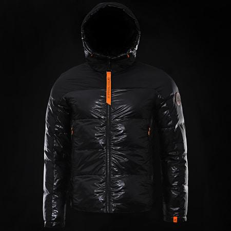 Final Club - Doudoune Capuche Premium Mountain Noir Orange