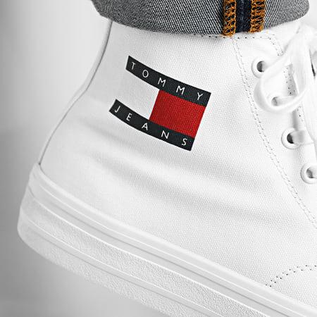 Tommy Hilfiger Jeans - Baskets Montantes Mid Cut Lace Up Vulc 0485 Blanc