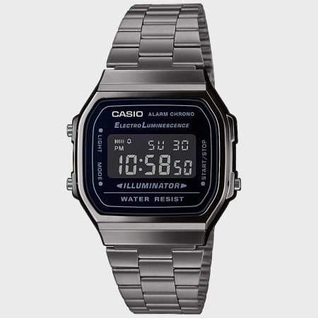 Casio - Montre Collection A168WEM-2EF Argenté Noir