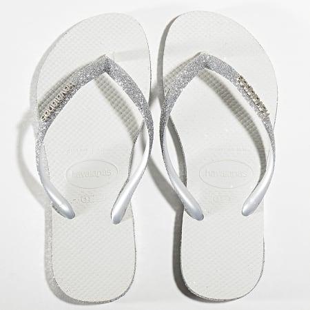 Havaianas - Tongs Femme Slim Sparkle 4144734 Blanc