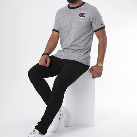 Champion - Tee Shirt 214681 Gris Chiné