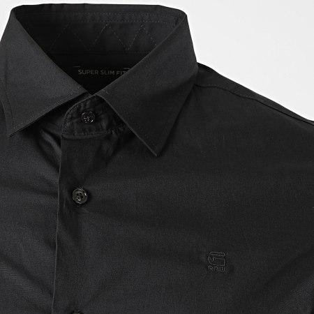 G-Star - Chemise Manches Longues Dressed Super Slim D17026-C271 Noir
