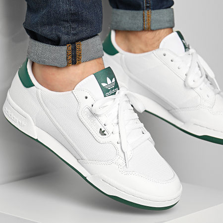 adidas - Baskets Continental 80 EF5995 Footwear White Grey One Collegiate Green