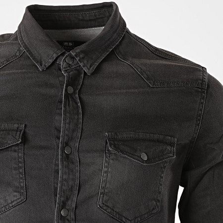 Classic Series - Chemise Jean Manches Longues DC-3116 Gris Anthracite