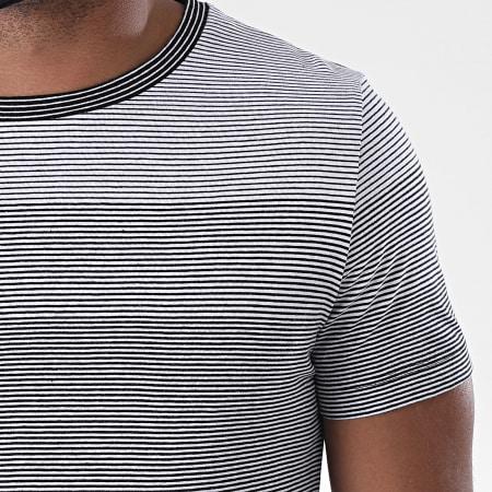 Tom Tailor - Tee Shirt A Rayures 1018560-XX-12 Blanc Noir