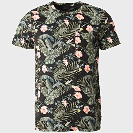 Tom Tailor - Tee Shirt Poche Floral 1018567-XX-12 Noir