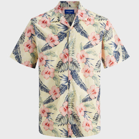 Jack And Jones - Chemise Manches Courtes Marty 12170478 Floral Beige
