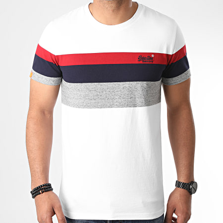 Superdry - Tee Shirt OL Classic YD Stripe M1010139A Blanc
