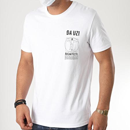 Da Uzi - Tee Shirt Logo Architecte Blanc