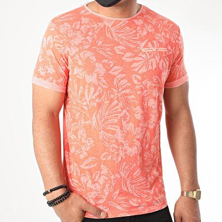 La Maison Blaggio - Tee Shirt Malte Orange Floral