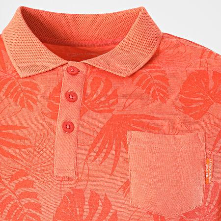 La Maison Blaggio - Polo Manches Courtes Pajay Orange Floral