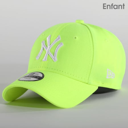 New Era - Casquette Enfant 9Forty New York Yankees League Essential 12381024 Jaune Neon