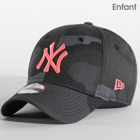 New Era - Casquette Enfant Camouflage 9Forty New York Yankees Essential 940 12381206 Gris Rose