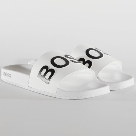 Hugo Boss - Claquettes Bay 50425152 Blanc