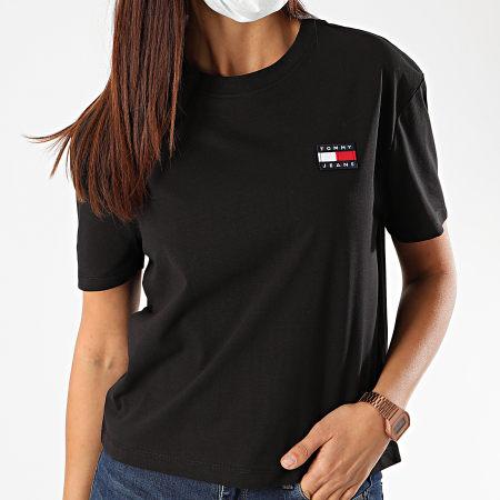 Tommy Jeans - Tee Shirt Femme Tommy Badge 6813 Noir
