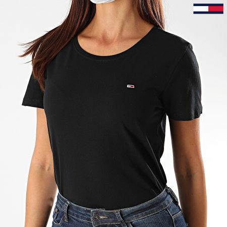 Tommy Jeans - Tee Shirt Femme Soft Jersey 6901 Noir