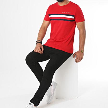 Tommy Hilfiger - Tee Shirt Global Stripe 4337 Rouge