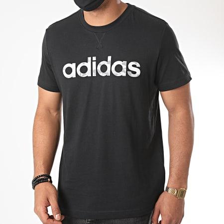 adidas - Tee Shirt Camouflage Linear EI9755 Noir