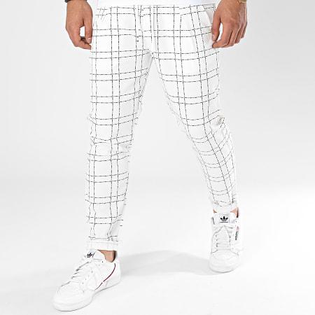 Frilivin - Pantalon A Carreaux 92483 Blanc
