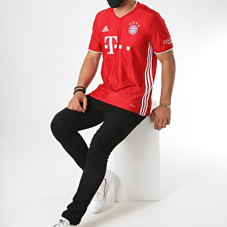 adidas - Tee Shirt A Bandes FC Bayern FR8358 Rouge