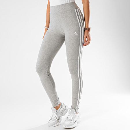 adidas - Legging Femme A Bandes FM2553 Gris Chiné ...