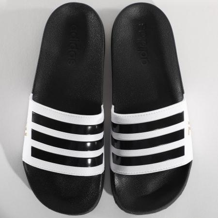 adidas - Claquettes Adilette Shower FW7075 Juventus Noir Blanc