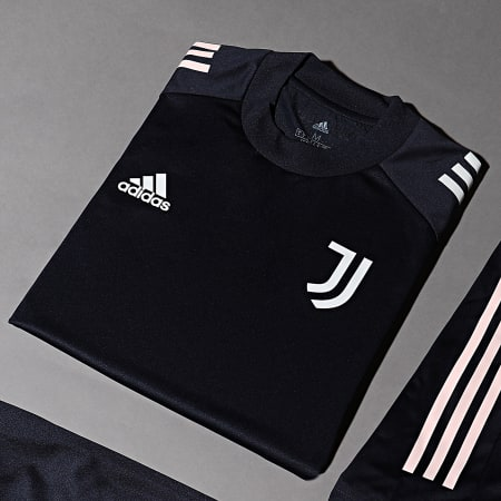 adidas - Tee Shirt De Sport A Bandes Juventus FR4268 Bleu Marine