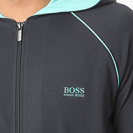 Hugo Boss - Sweat Zippé Capuche 50381879 Bleu Marine