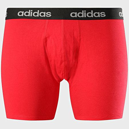 adidas - Lot De 3 Boxers FS8395 Noir Rouge Bleu Marine
