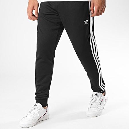 adidas - Pantalon Jogging A Bandes SST TP Prime Blue GF0210 Noir Blanc