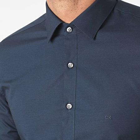 Calvin Klein - Chemise Manches Longues Poplin Stretch 3109 Bleu Marine