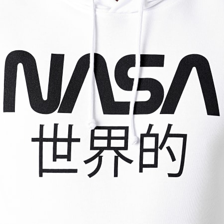 NASA - Sweat Capuche Japan Logo Blanc Noir