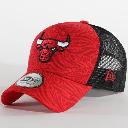 New Era - Casquette Trucker Hook 12380782 Chicago Bulls Rouge