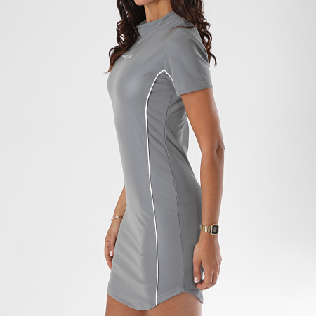 Project X - Robe Femme F207040 Réfléchissant Gris