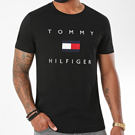 Tommy Hilfiger - Tee Shirt Tommy Flag 4313 Noir