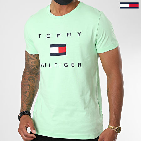 Tommy Hilfiger - Tee Shirt Tommy Flag 4313 Vert