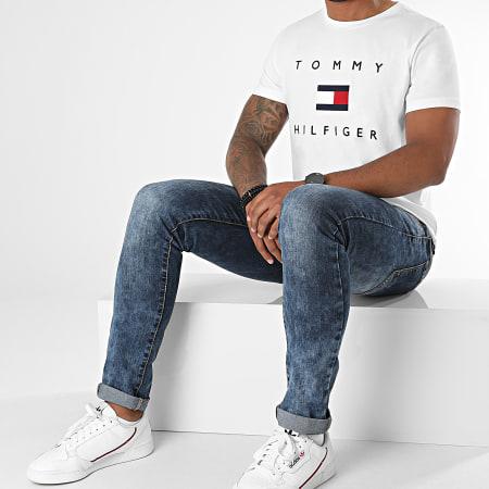 Tommy Hilfiger - Tee Shirt Tommy Flag 4313 Blanc