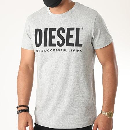 Diesel - Tee Shirt Diego Logo 00SXED-0AAXJ Gris Chiné