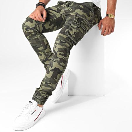 John H - Jogger Pant Camouflage XQ02 Vert Kaki
