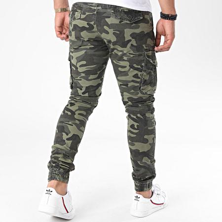 John H - Jogger Pant Camouflage XQ05 Vert Kaki