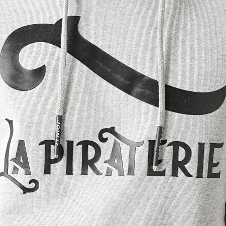 La Piraterie - Sweat Capuche Outlaw Gris Chiné