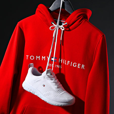 Tommy Hilfiger - Baskets Corporate Knit Rib Runner FM0FM02938 White