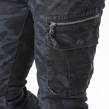 John H - Jogger Pant Camouflage XQ01 Bleu