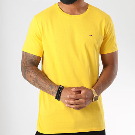 Tommy Jeans - Tee Shirt Essential Solid 4577 Jaune