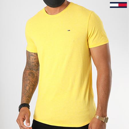 Tommy Jeans - Tee Shirt Essential Jaspe 4792 Jaune