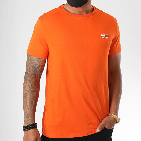 Tommy Jeans - Tee Shirt Chest Logo 7472 Orange