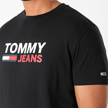 Tommy Jeans - Tee Shirt Corp Logo 7843 Noir