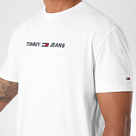 Tommy Jeans - Tee Shirt Straight Logo 8472 Blanc