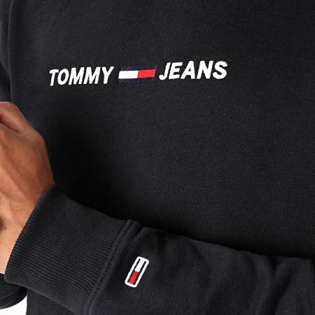 Tommy Jeans - Sweat Capuche Straight Logo 8474 Noir