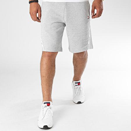 Tommy Sport - Short Jogging A Bandes Fleece Tape 0369 Gris Chiné